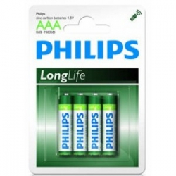 Bateria AAA R03 Philips Long Life 1,5V