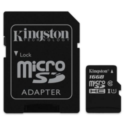 Karta pamięci microSD + adapter 16GB Kingston